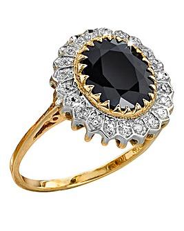 9 Carat Gold Sapphire & Diamond-Set Ring
