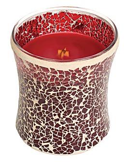 Wood Wick Pomegranate Mosaic Candle