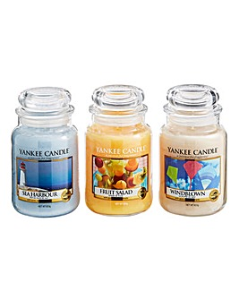 Yankee Candle Set of 3 Large Jars