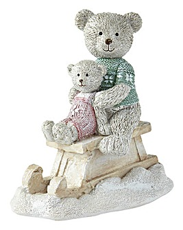 Christmas Bears on Sledge
