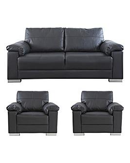 Ravel Leather 3 Sofa plus 2 Chairs