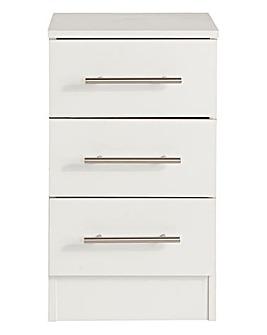 Helsinki Three Drawer Bedside Cabinet