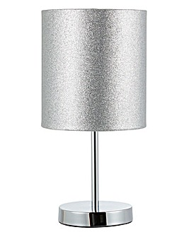 Chrome Glitter Table Lamp