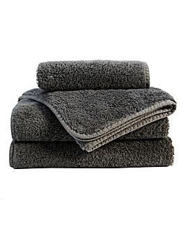 Christy Harrogate Towel Range-Flint