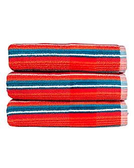 Christy Prism Stripe Towels Tutti Frutti