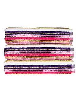 Christy Prism Stripe Towels Eaton Mess