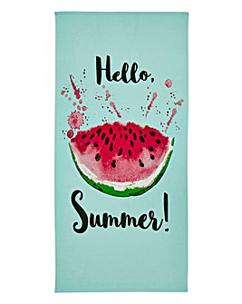 Hello Summer Beach Towel