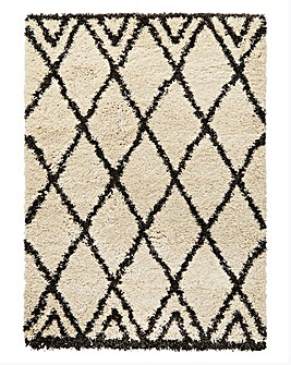 Imperial Diamond Shaggy Rug Large