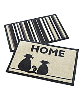 Muddle Mat Pack of 2- Cat & Stripes
