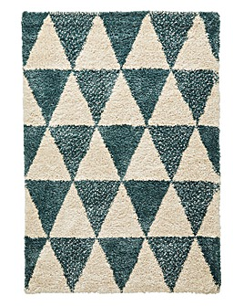 Diamond Geo Shaggy Rug