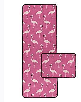 Flamingo Runner & Door Mat