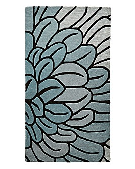 Flower Wool Rug Large