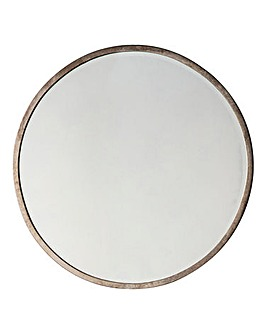 Higgins Round Antique Silver Mirror