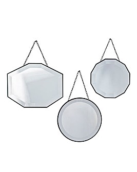 Haines Set of 3 Scatter Mirrors