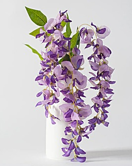Faux Purple Wisteria in Jug