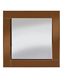 Brilliant Cut Bevelled Mirror-Copper