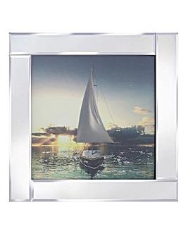Sail Boat Mirror Wall Art