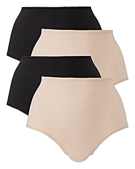 4 Pack Cotton Black/Blush Shorts