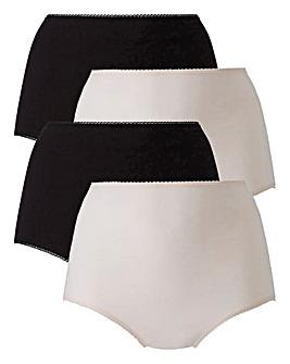 4 Pack Full Fit Cotton BlackBlush Briefs