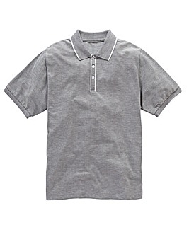 Jacamo Aransas Piped Placket Polo Reg