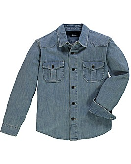 UNION BLUES L/S Darwin Denim Shirt Long