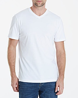 Capsule White V-Neck T-shirt L