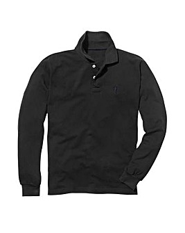 Capsule Black Long Sleeve Polo L