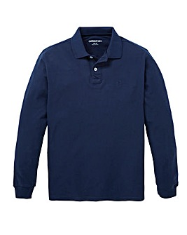 Capsule Navy Long Sleeve Polo L