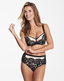 Milly Lace Black Balcony Bra