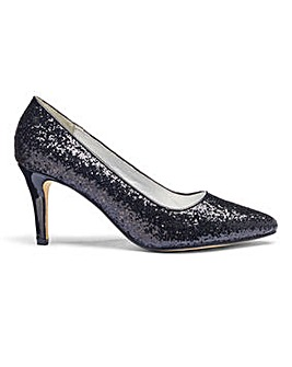 Heavenly Soles Glitter Court Shoes E Fit