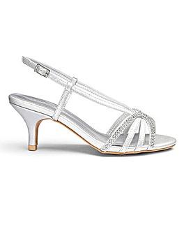 Heavenly Soles Diamante Sandals EEE Fit