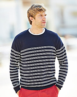 WILLIAMS & BROWN Crew Neck Stripe Jumper