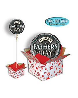 Fathers Day Chalkboard Balloon In Box