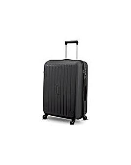 Carlton Lge 4 Wheel Hard Suitcase Black