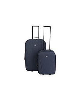 Go Explore 2 piece Soft Luggage Set Blue