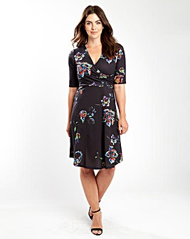 Joe Browns Watercolour Print Jersey Dres