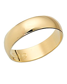 9 Carat Gold Medium Weight Wedding Band