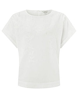 Monsoon Rachel Embroidered Linen Top