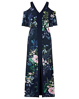 Monsoon Willow Cold Shoulder Maxi Dress