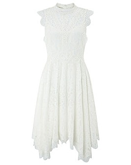 Monsoon Jamie Lace Hanky Hem Dress