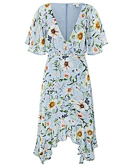 Monsoon Heidi Print Hanky Hem Dress