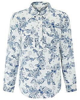 Monsoon Amelia Print Linen Shirt