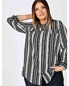 Koko black and white striped shirt