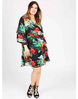Koko floral print wrap dress