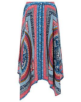 Monsoon Lorenna Print Hanky Hem Skirt