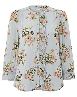 Monsoon Eva Strawberry Print Frill Shirt