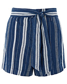 Monsoon Lydia Linen Stripe Short