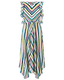 Monsoon Kandi Soft Stripe Midi Dress