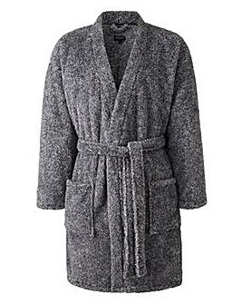 Capsule Charcoal Fleece Dressing Gown