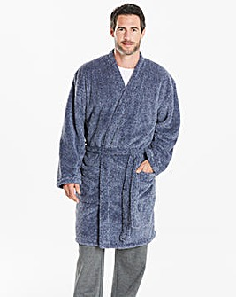 Capsule Blue Fleece Dressing Gown